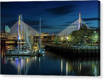 Custom House Tower Canvas Print - Boston Bunker Hill Bridge by Melanie Viola