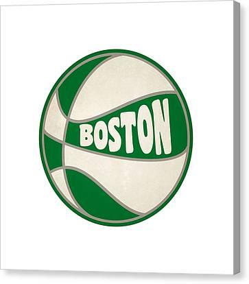 Boston Celtics Canvas Print - Boston Celtics Retro Shirt by Joe Hamilton