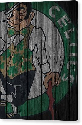 Boston Celtics Wood Fence Canvas Print by Joe Hamilton