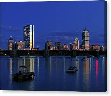 Boston City Lights Canvas Print by Juergen Roth