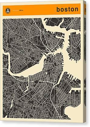 Boston Map Canvas Print by Jazzberry Blue