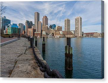 Boston Cityscape From The Seaport District 3 Canvas Print by Brian MacLean