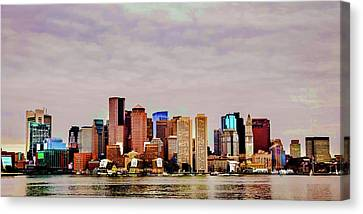 Charles River Canvas Print - Boston Cityscape by Lisa Lemmons-Powers