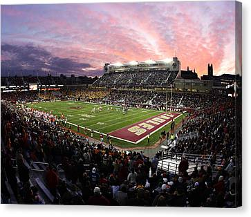 Boston College Alumni Stadium Canvas Print by John Quackenbos