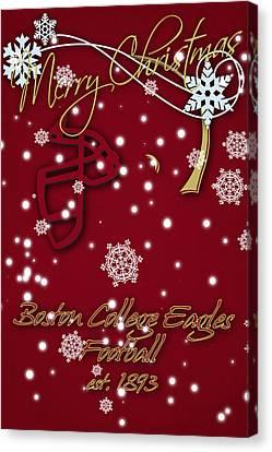 Boston College Eagles Christmas Card Canvas Print by Joe Hamilton