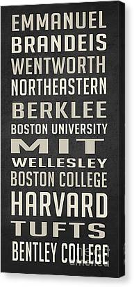 Emerson Canvas Print - Boston Colleges Poster by Edward Fielding