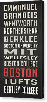 Boston Collegetown Canvas Print by Edward Fielding