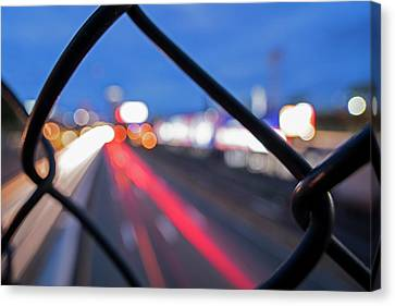 Boston Fence Abstract Mass Pike Canvas Print by Toby McGuire