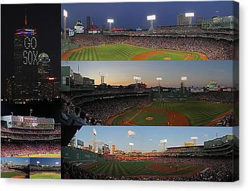 Boston Fenway Park And Red Sox Gift Ideas Canvas Print by Juergen Roth