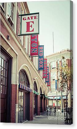 Boston Fenway Park Sign Gate E Entrance Canvas Print by Paul Velgos