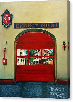 Boston Fire Engine 21 Canvas Print by Paul Walsh