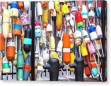Boston Ma Canvas Print - Boston Harbor Buoys by Betsy Knapp