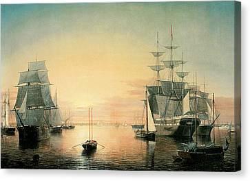 Boston Harbor Canvas Print by Fitz Hugh Lane