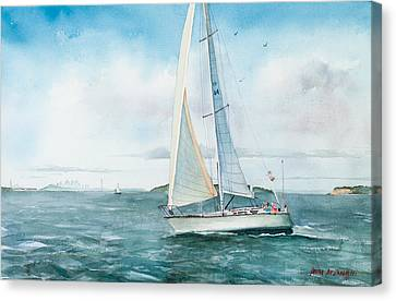 Seascape Canvas Print - Boston Harbor Islands by Laura Lee Zanghetti