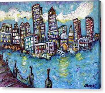 Boston Harbor Canvas Print by Jason Gluskin