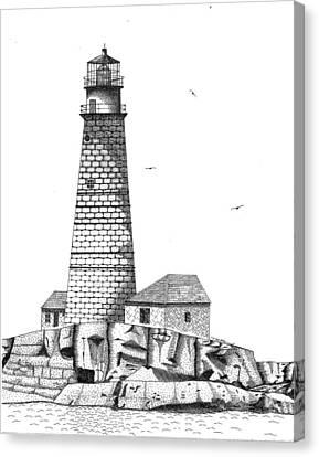 Boston Harbor Lighthouse Canvas Print by Tim Murray