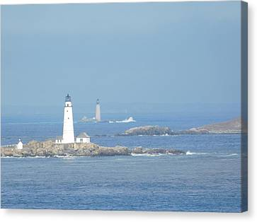 Boston Harbor Lighthouses Canvas Print