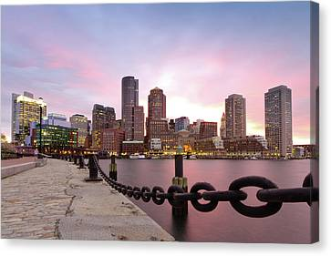 Boston Harbor Canvas Print by Photo by Jim Boud