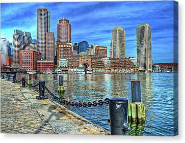 Boston Harbor Canvas Print by Randy Dyer