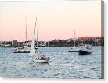 Boston Harbor View Canvas Print