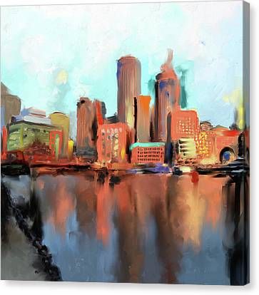 Charles River Canvas Print - Boston II 480 I by Mawra Tahreem