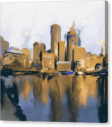 Charles River Canvas Print - Boston II 480 II by Mawra Tahreem
