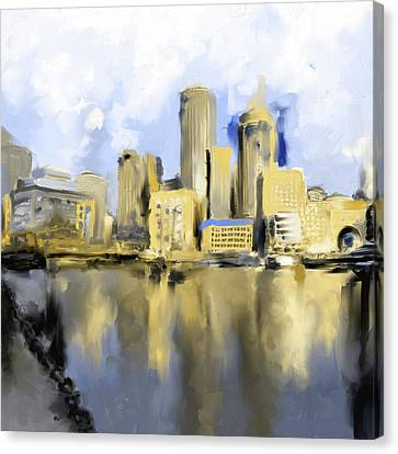 Charles River Canvas Print - Boston II 480 IIi by Mawra Tahreem