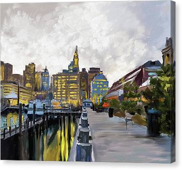 Charles River Canvas Print - Boston IIi 483 I by Mawra Tahreem