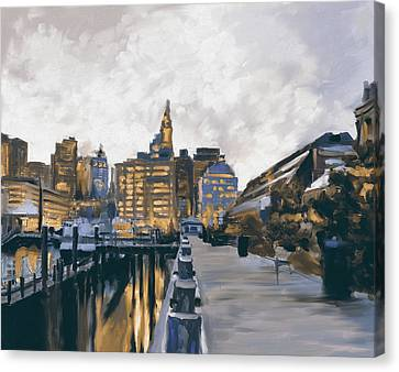 Charles River Canvas Print - Boston IIi 483 II by Mawra Tahreem