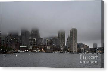 Boston In The Fog Canvas Print