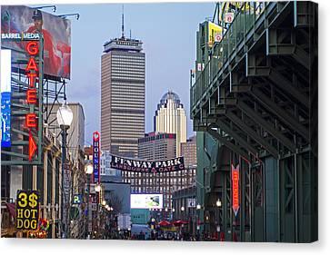 Boston Lansdowne Street Fenway Park Gate E Canvas Print