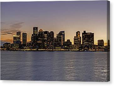 Boston Last Night Sunset Canvas Print by Juergen Roth