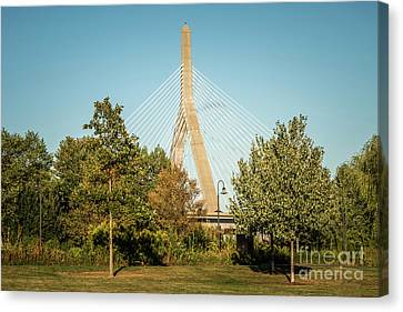 Boston Leonard Zakim Bunker Hill Bridge Photo Canvas Print