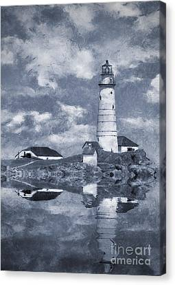 Canvas Print featuring the photograph Boston Light  by Ian Mitchell