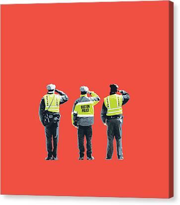Terrorist Canvas Print - Boston Marathon Bombing by Shay Culligan