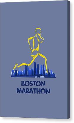 Boston Marathon5 Canvas Print by Joe Hamilton