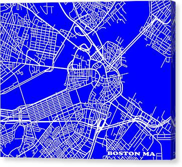 Boston Massachusetts City Map Streets Art Print   Canvas Print by Keith Webber Jr