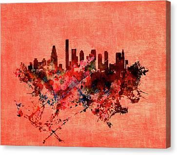Boston, Massachusetts Cityscape 1a Canvas Print