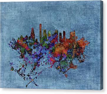 Boston, Massachusetts Cityscape 1b Canvas Print