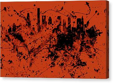 Boston, Massachusetts Cityscape  1c Canvas Print