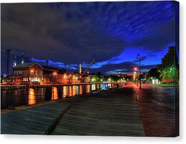 Canvas Print featuring the photograph Boston Navy Yard - Constitution Marina by Joann Vitali