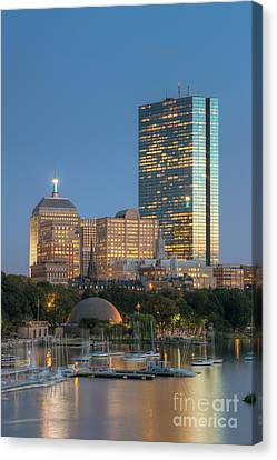 Boston Night Skyline Iv Canvas Print by Clarence Holmes