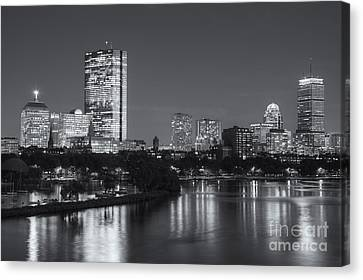 Boston Night Skyline V Canvas Print by Clarence Holmes