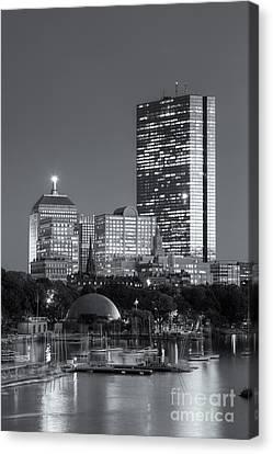 Boston Night Skyline Viii Canvas Print by Clarence Holmes