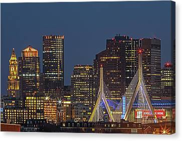 Boston Nightlight Canvas Print by Juergen Roth