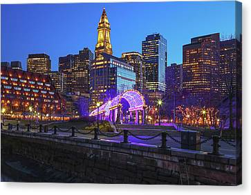 Boston North End Christopher Columbus Waterfront Park Canvas Print by Juergen Roth