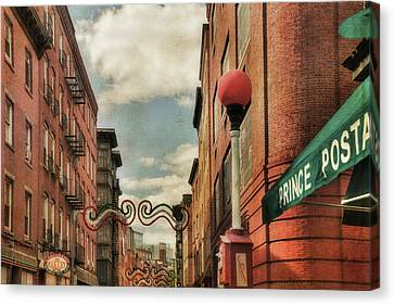 Canvas Print featuring the photograph Boston North End by Joann Vitali
