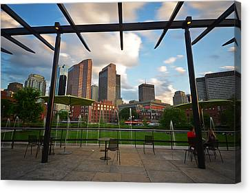Boston North End Park Fountains Canvas Print by Toby McGuire