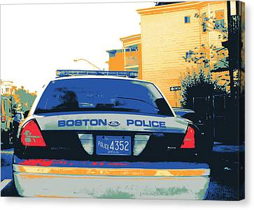 Boston Police Cruiser Canvas Print