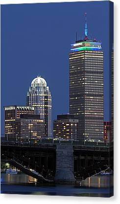 Canvas Print featuring the photograph Boston Prudential Center Celebrating 100th Anniversary Of Shaw Market by Juergen Roth